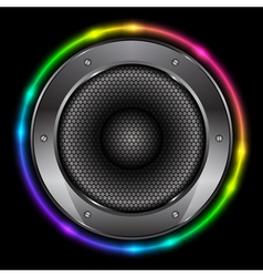 colorful background with Sound Speaker vector image