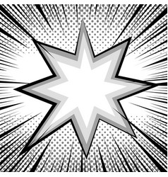 comic book page monochrome design concept vector image