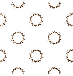 Crown of thorns pattern seamless vector