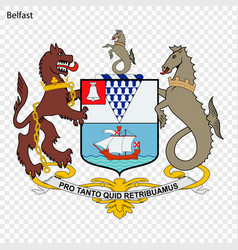 Emblem of belfast vector