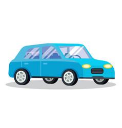 estate car isolated on white background vehicle vector image