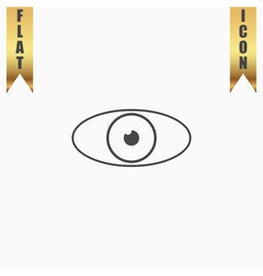 Eye icon Flat design style vector