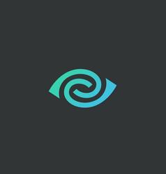 Eye swirl spiral logotype lined camera vector