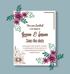Floral decoration flyers postcards vintage style vector