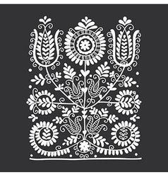 Floral folk ornament vector