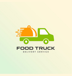 food truck logo design template food delivery vector image