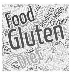 Gluten Free Diet Word Cloud Concept vector