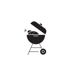 grill time black concept icon grill time vector image