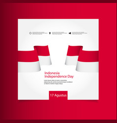 Indonesia independence day celebration template vector