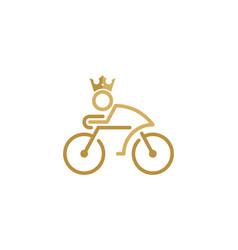 King bike logo icon design vector