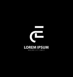 Letter e logo e design with white colors vector