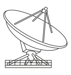 line art black and white radar antena vector image