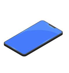 modern smartphone on blue background new app vector image