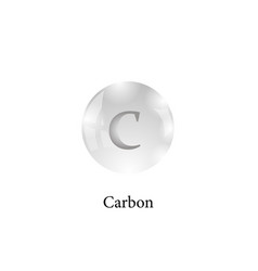 molecule of carbon isolated on white background vector image