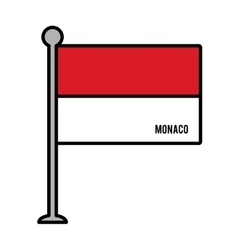 monaco patriotic flag isolated icon vector image