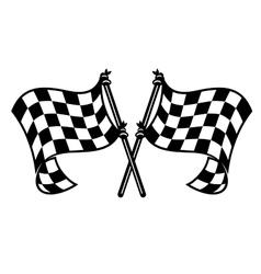 Motor sports flags curling in breeze vector