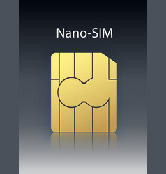nano mobile cellular phone sim card chip vector image