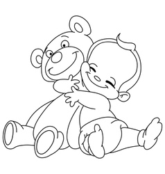 outlined bahug bear vector image