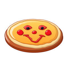pizza food icon cartoon style vector image