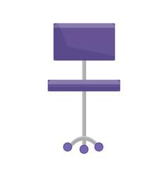 purple office chair closeup vector image