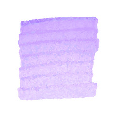 Purple watercolor stain isolated on white vector