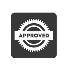 Quality control icon with approved sign vector