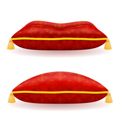 Red satin pillow vector