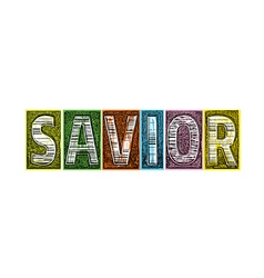 Savior Blocks of Type vector image