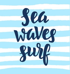 Sea waves surf vector
