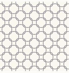 Seamless pattern hand drawn interlocking polka vector