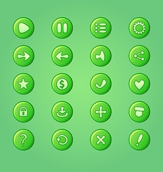 set mobile bright green elements for ui game vector image