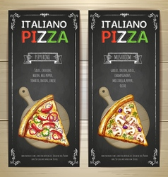 set pizza menu banners vector image