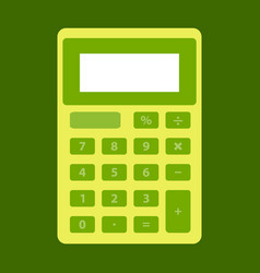 Shcool calculator icon in flat style isolated on vector