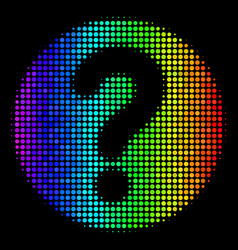 Spectral colored pixel query icon vector