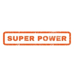 Super Power Rubber Stamp vector
