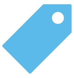 Tag flat blue color icon vector