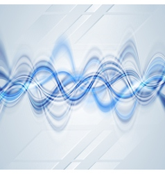 Tech wavy background vector image