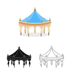 Tent and simple logo vector
