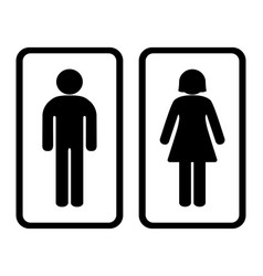 Toilet icon with black and white background vector