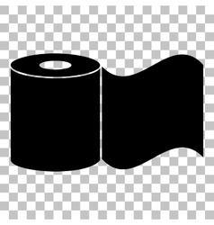 Toilet Paper sign Flat style black icon on vector image