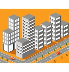 Town structure vector image