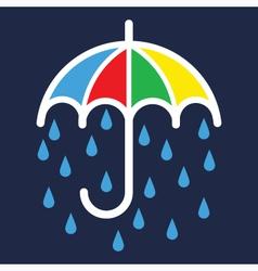Umbrella Color Silhouette vector