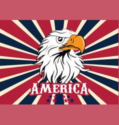 usa eagle flag image vector image