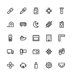 User interface colored line icons 54 vector