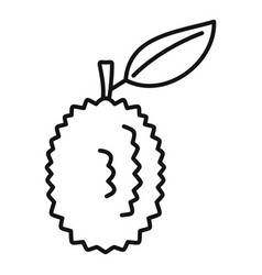 whole raw durian icon outline style vector image