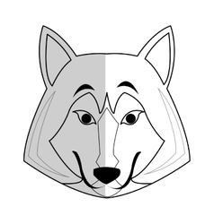 wolf cartoon icon vector image