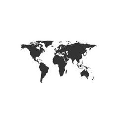 world map icon isolated flat design vector image