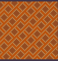 Zigzagging knitted wool seamless pattern vector