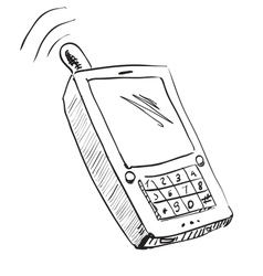 Old school mobile phone icon vector image vector image