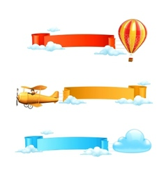 Air banners vector image